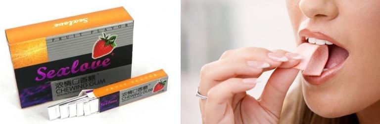 Chewing gum sex enhancement for men with corn mint flavor in gudu